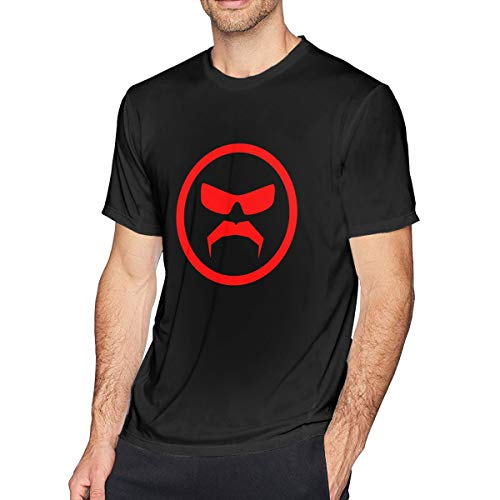 Men's Cotton T-Shirt Dr. D-Isrespect Shirt Personality Printed Short-Sleeved Wild Top Large Black