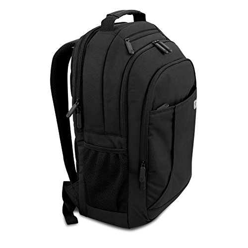 V7 CBP16-BLK-9E 16' up to 17' Professional Laptop Backpack (sleek, durable, water resistant Polyester) black