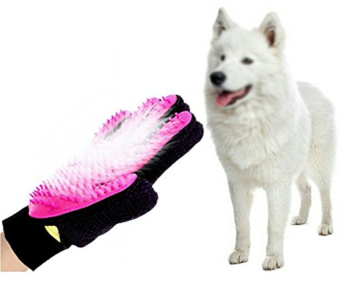 ZHXINYU XINYUKEJI Guantes para Mascotas- Guante Suave para Cepillado y Eliminación de Pelo - Guantes Eficientes para la Eliminación de Pelo Suelto (Rosa (Derecha))