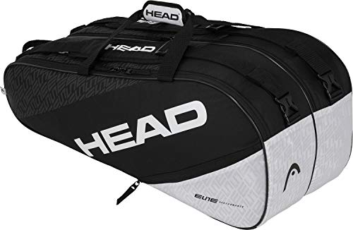 HEAD Elite 9R Supercombi, Borsa per Racchetta Unisex Adulto, Nero/Bianca