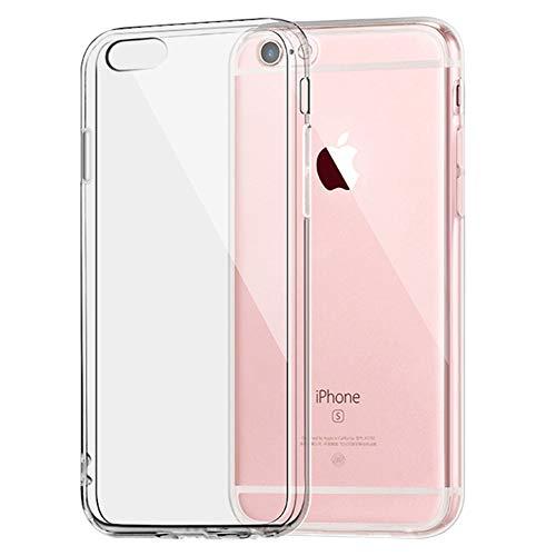 ILEC PXHB SHOP iPhone 6/6S Hülle Ultra Dünn Soft Silikon Transparent 4,7 Zoll Kratzfest Anti-Shock Flexibel TPU Case