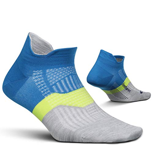 Feetures - Elite Ultra Light - No Show Tab - Athletic Running Socks for Men and Women - Summer Marine - Size Large
