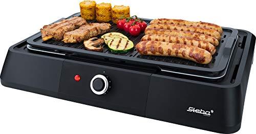 Steba BBQ Tischgrill VG P20 | antihaftbeschichtete Grillplatte mit 39 x 22 cm Grillfläche | stufenlose Temperaturregelung | Low-Fat: Bratflüssigkeit läuft in eine Wasserschale ab