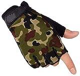 LLDKA Gants de Couple Poids léger Masculin Gants d'équitation Respirant antidérapants Portable Fingerless,Burst,L