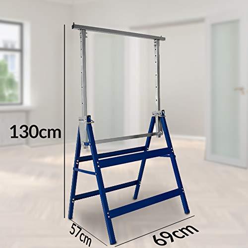 2x Gerüstbock Unterstellbock Klappbock Stützbock höhenverstellbar 81-130 cm Gerüst 400kg Tragkraft insgesamt - 4