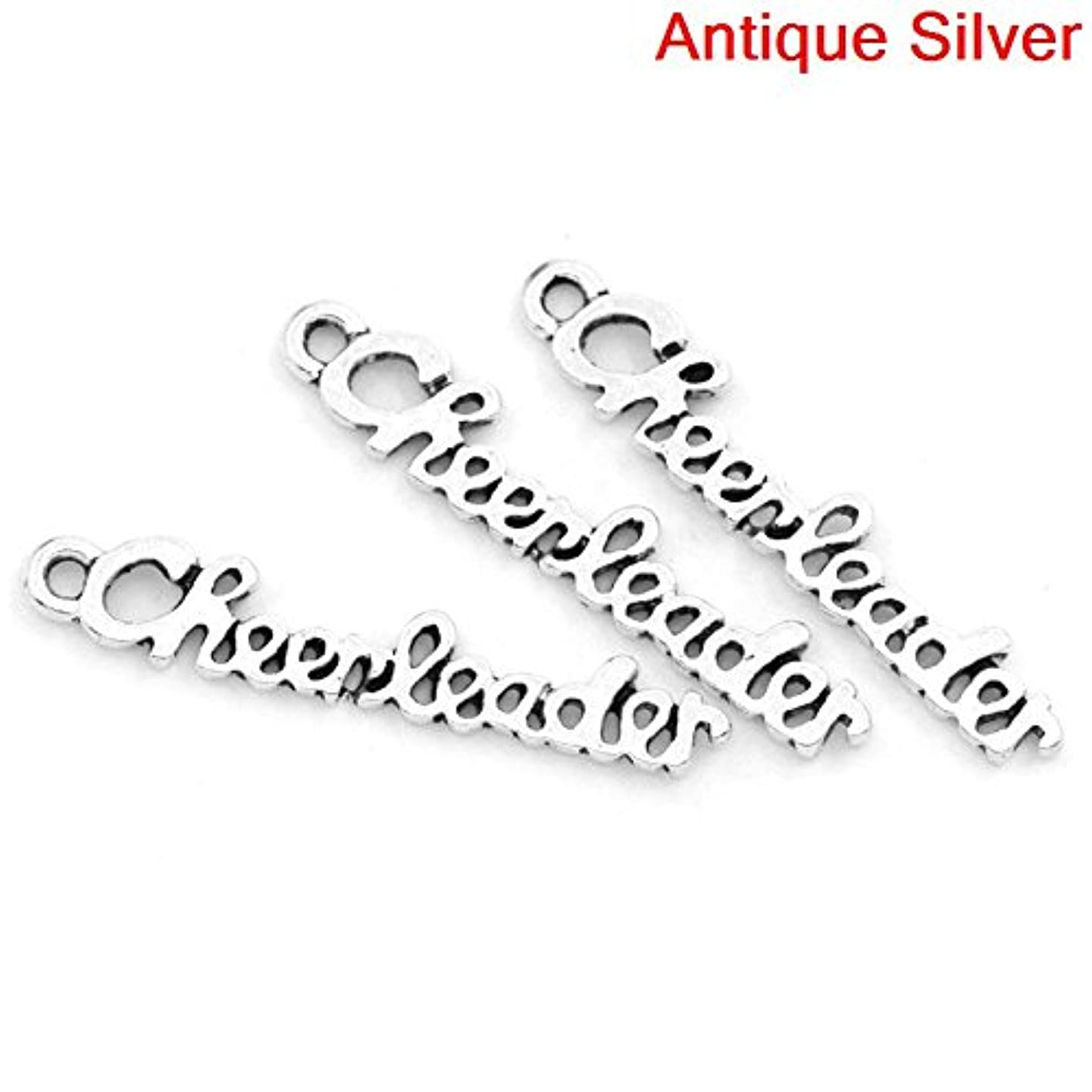 30 Pc Cheerleader - Cheer and School Spirit Silver Tone Charms