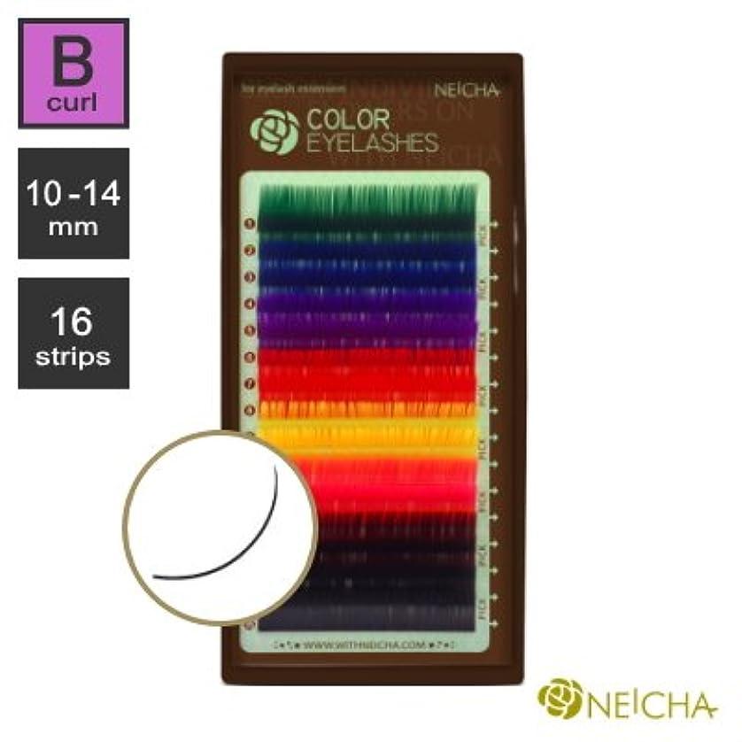 バンカー傀儡ベーコンまつエク《目尻のポイントカラーが可愛い!》NEICHA 8カラーラッシュ (Bカール) (16列) (12mm)