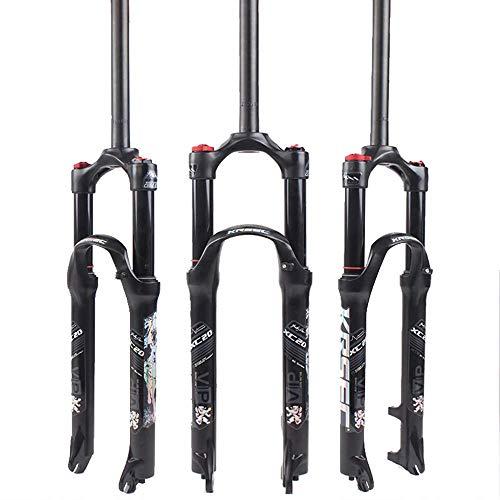 26/27.5/29 Air Horquilla para Bicicleta De Montaña, Tubo Recto 28.6Mm Qr 9Mm Travel 120Mm Horquillas MTB con Bloqueo Manual/Corona, Amortiguador De Gas Ultraligero XC/Am/FR Bicicleta Cicli