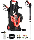 Coyardor CP2500 Electric Pressure Washer 2100 PSI 1.6 GPM, with 50 ft Flexible Pressure Washer Hose, Quick Connectors, Foam Cannon, 5 Nozzle Tips, Premium Accessories Compatible with Gas Power Washer