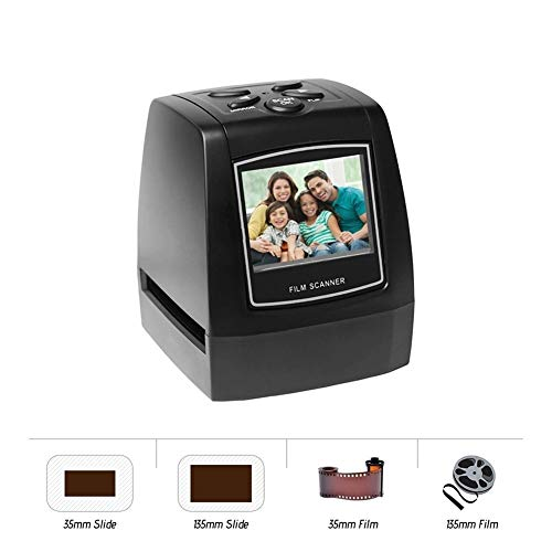 Great Price! Negative Film Scanner 35mm 135mm Slide Film Converter Photo Digital Image Viewer with 2...