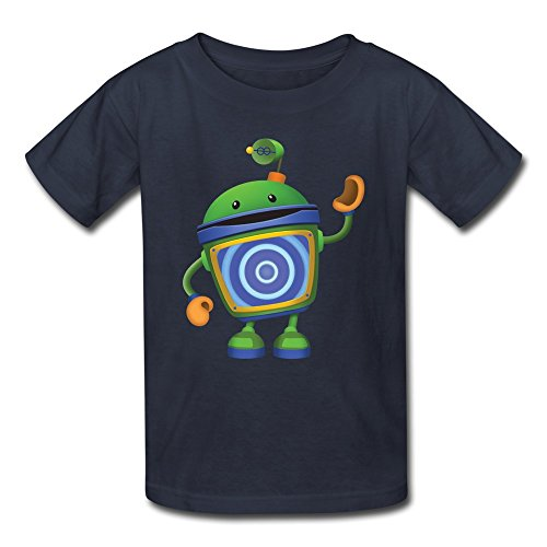 Kid's Vintage Bot Team Umizoomi T-Shirts Size S Navy by Mjensen