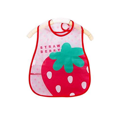 Weich-PVC, EVA-Baby wasserdichte Lätzchen für 1-3 Jahre Baby Große Erdbeere