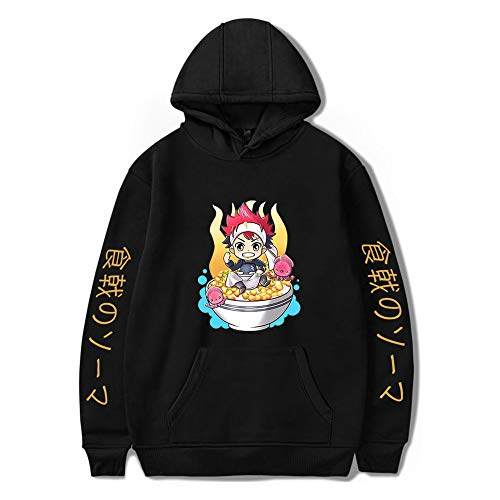 JlLianT Sweat-Shirts Coton Capuche Unisexe Hoodie 3D HD Imprimer Pull Tops Loisirs Pullover Zip Chandail Anime Manches Longues Sweatshirt Manteau Hoodies Sweater Jackets Coat Food Wars XS