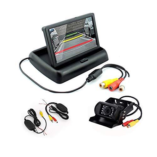 Boomboost Camion Bus 4,3 Pouces Pliable TFT LCD Voiture arrière Vue arrière Moniteur Ajouter CCD caméra de Vue arrière + récepteur émetteur sans Fil
