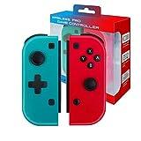 Controlador Inalámbrico Bluetooth Para Nintendo Switch,Mini Joystick Para Consola Nintendo Switch,Controlador Remoto Pro Gamepad Joypad,Compatible Con Interruptor Joycon,Rojo(R)y Azul(L),No Original