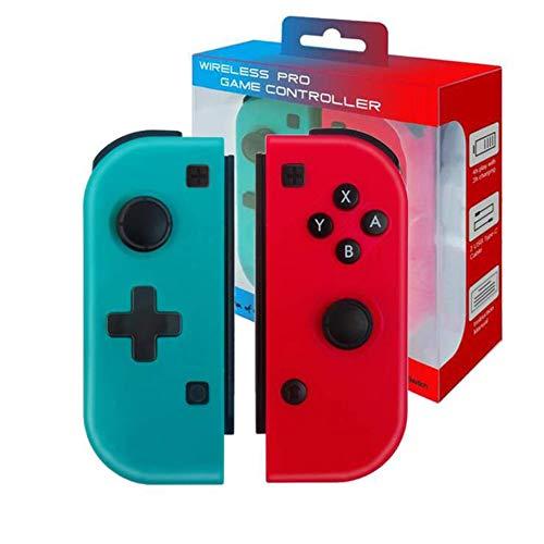 Drahtloser Bluetooth-Controller Für Nintendo Switch,Mini-Joystick Für Nintendo Switch Console,Remote Pro Controller-Gamepad Joypad,kompatibel Mit Switch Joycon,Rot(R) Und Blau (L),nicht Original