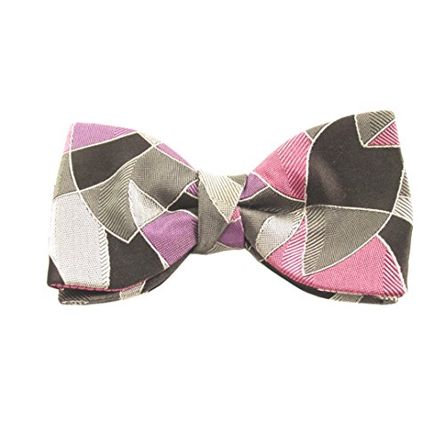 Van Buck England - Nœud papillon - Homme Rose Grey, White, Purple and Pink Taille Unique