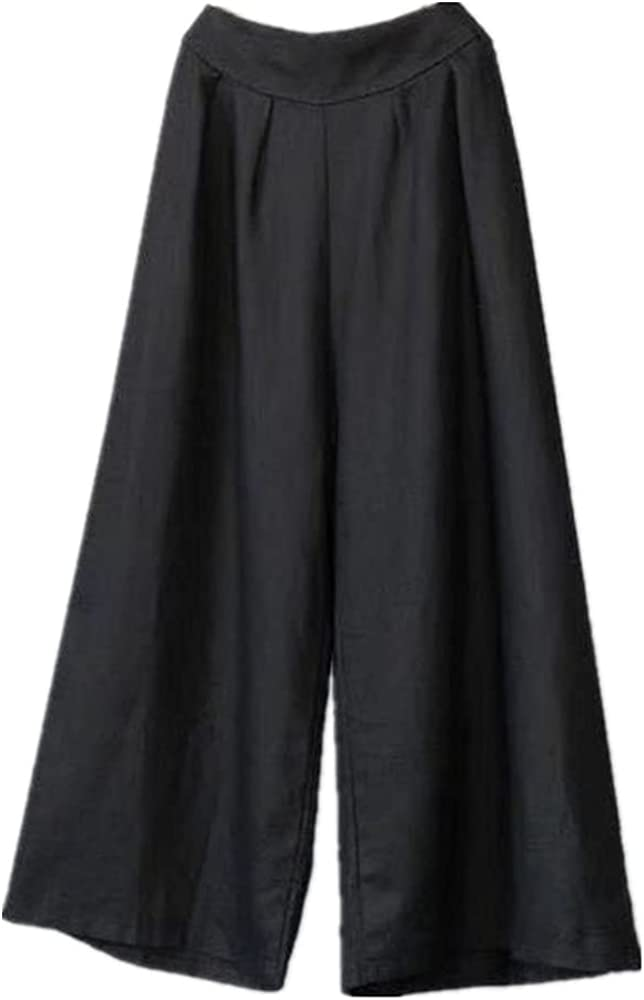 Women's Spring and Autumn Loose high-Waist Nine-Point Plus Size Casual Pants