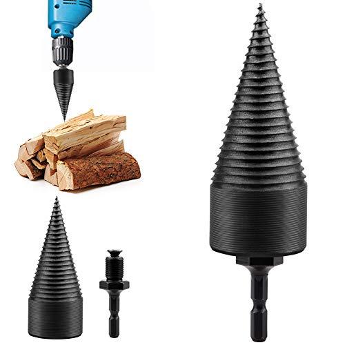Asdomo Holzspalter, strapazierfähiger Bohrkegel Schraubendreher Brennholz Maschine, Holzspalter Bohrer Tragbares Holzschneidewerkzeug für Handbohrstifte Kupfer
