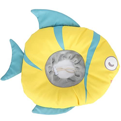 Wosune Collar de recuperación en Forma de pez, Collar de recuperación para Gatos, de recuperación Ajustable, Cono para Mascotas, Forma de pez, Cono de Cuello hermético con Forma de pez, Collar de(S)
