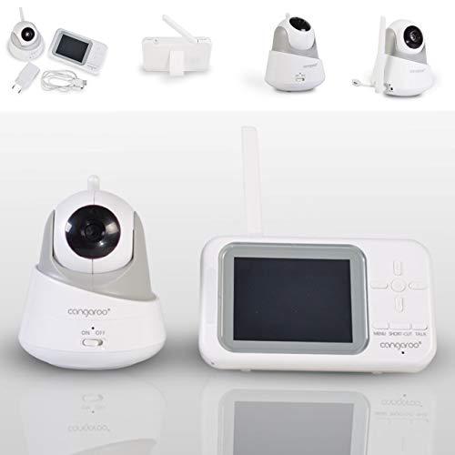 Canguro, Babyphone Focus BM-280, cámara, pantalla LCD de 3.5' a color, color:blanco
