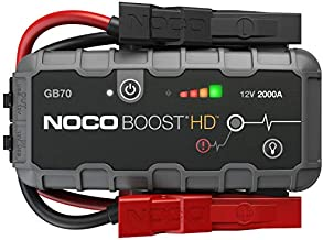 NOCO Boost HD GB70 2000 Amp 12-Volt UltraSafe Lithium Jump Starter Box, Car Battery Booster Pack, Portable Power Bank Charger, and Jumper Cables For Up To 8-Liter Gasoline and 6-Liter Diesel Engines