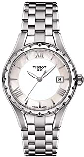 Tissot Women's Lady T072 Quartz's White Dial Color Steel Strap Watch - T072.210.11.118.00