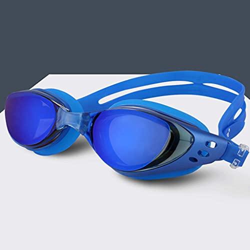 YWSZJ Gafas de natación Myopia Hombres y Mujeres Anti-Niebla Profesional Impermeable Silicone Arena Piscina Gafas de natación Adult Eyewear (Color : E)