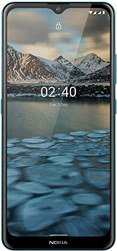 Nokia 2.4 Smartphone mit 6,5 Zoll HD+ Display, Portät- und Nachtmodus, Akku mit 2 Tage Laufzeit, Fingerabdrucksensor, robustes Design, Android 10 und Google-Assistant-Knopf, Fjord