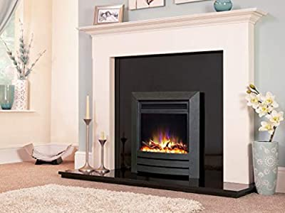 "New Designer Celsi Fire - Hearth Mounted Electric Fire 16"" Electriflame XD Camber Black"