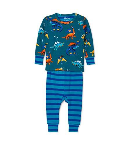 Hatley Organic Cotton Pyjama Sets Juego de Pijama, Superhéroe Dinosaurios, 18-24 Meses para Bebés
