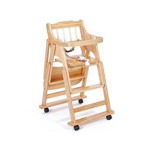 YQQ Chaise De Salle À Manger pour Enfants Tabouret De Sécurité pour Bébé Chaise Pliante Multifonctionnelle Chaise en Bois Table De Bébé Siège en Bois Massif (Couleur : 1)