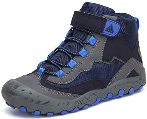 Mishansha Zapatos Niños Zapatillas Senderismo Niño Bambas de Montaña Trekking para Niña Azul Gr.34