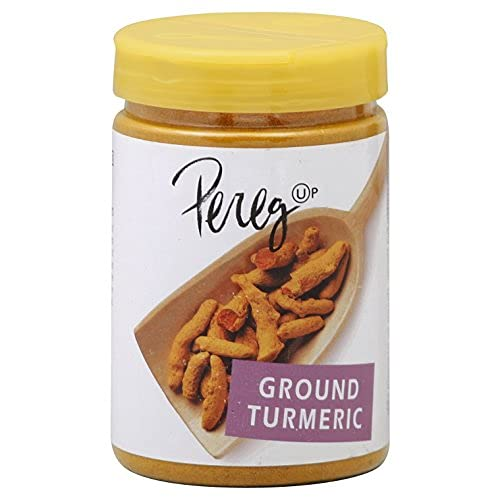 Pereg Ground Turmeric Powder (4.25 Oz) - Ground, Raw, Rich Natural Yellow Color- With Curcumin & Antioxidants - Indian Spice - Non-GMO, All Natural, Non-Irradiated