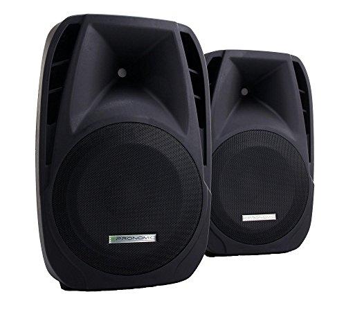 2x Pronomic PH15 Bühnen- und Konzertlautsprecher PA-Lautsprecher (passive ABS...
