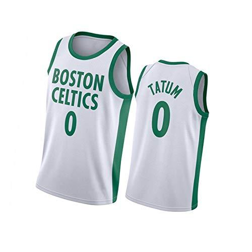 Tatum Camiseta de baloncesto 0# Celtic Classic Jersey, chaleco de malla para hombre, blanco y XL