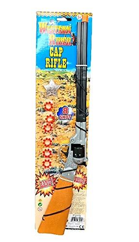 Kids western Style Ring Cap Gun Rifle With Caps 8 Caps 48 Shots Plus 20...