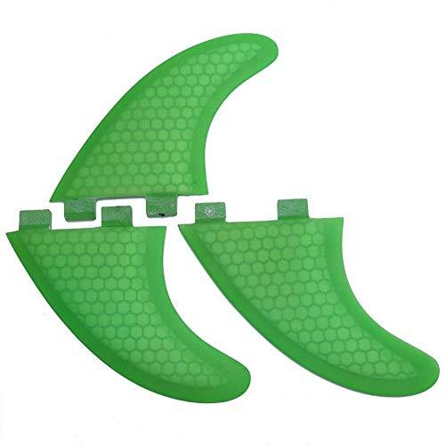 DEWIN Aletas para Tablas de Surf - Green FCS Aletas para Tablas de Surf Aletas de Empuje Futuras Surf (G7)