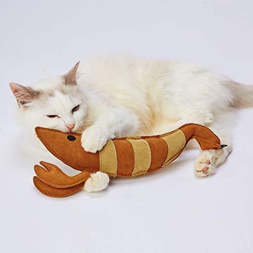 ペティオ (Petio) 猫用おもちゃ けりぐるみ タフレザー 最強のエビ