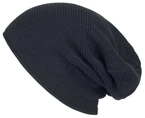 Black Premium by EMP Bonnet Unisexe Bonnet Noir, 65% Viscose, 35% Polyamide, Regular/Coupe Standard