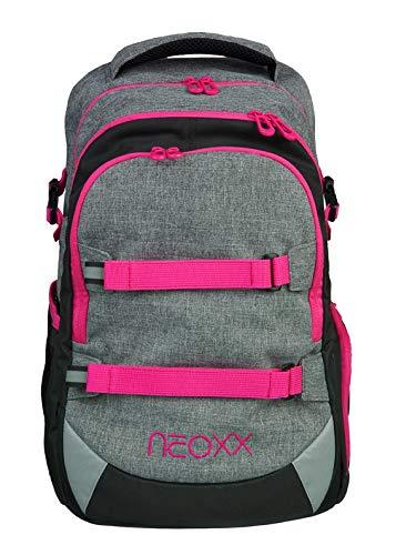 neoxx Active Ergonomischer Schulrucksack für Mädchen Teenager I Rucksack für die weiterführende Schule I Schulranzen aus recycelten PET-Flaschen, Schultasche 30 Liter