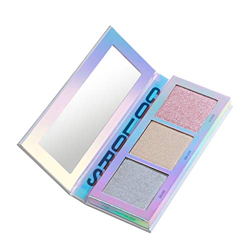 BEETIQUE® Highlighter Palette Face Glow Lightbeam - Vegane Premium Highlighter Palette - Akzentuiertes Und Leuchtendes Make-Up - Hochwertige Schminke - Professionelle Kosmetik Ergebnisse - 1 Stück