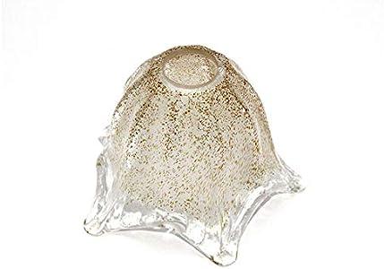 Ilab - Cristal de Murano - Copa de repuesto E14 - Lámparas, apliques, luces, lámparas, granitos, anchura: 14 cm, altura: 12,5 cm, diámetro del orificio: 2,9 cm - Recambio de lámpara de cristal