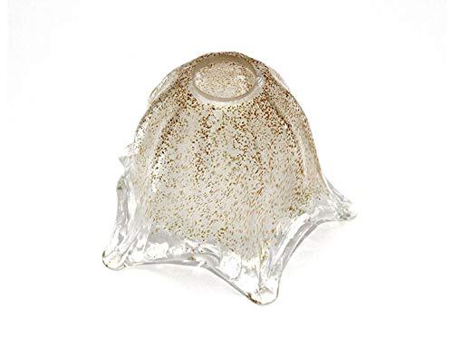 ILAB Vetro Murano coppa ricambio E14 lampadari,applique,lumetto,lampada,graniglia,larghezza: 14cm,altezza: 12,5cm,diametro foro: 2,9cm ricambio lampadario, ricambio vetro