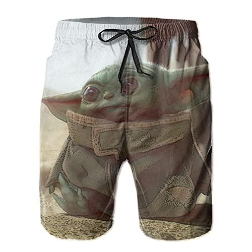 Hkdfjg Star Yoda Wars - Pantalones cortos de natación para hombre, estilo informal, para surf, playa, verano, vacaciones, gimnasio, correr, correr