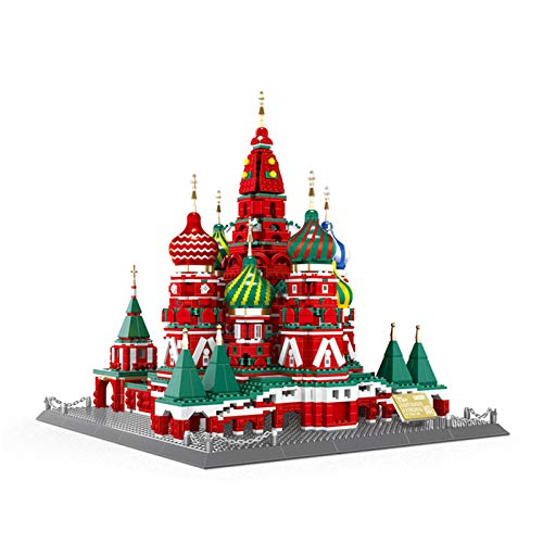 JMG Architecture Model Vasily Cathedral Building Set, World Famous Landmark Model Toys, Construction Collectible Gift, for Kid