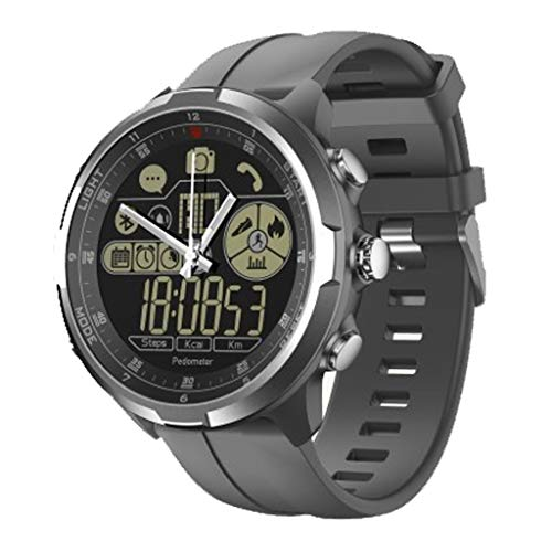 Bluetooth Smartwatch Unlocked Watch Phone Kann Anrufe Und SMS Mit Der Kamera Notification Sync Kompatibel FüR Android Ios (Blau, Schwarz, Silbergrau)