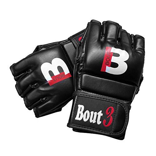 BOUT3® MMA Handschuhe, Kickboxen, Muay Thai | Boxhandschuhe männer, Frauen | MMA Sandsack Boxsack Boxen Sparring Training | Kampfsport, UFC–Punchinghandschuhe, Coachinghandschuhe (XL)