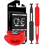 Nxtrnd One Football Mouth Guard, Mouth Guard Football, Football Mouthpiece, Football Mouth Guard Youth, Kids, & Adults, 1 Case & 2 Straps Included, Compatible with Braces (Red)