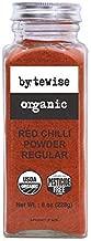 Bytewise Organic Kashmiri Red Chillies Powder Regular, Paprika Powder, 8 Oz